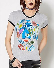 Stitch Frog Lilo and Stitch T Shirt