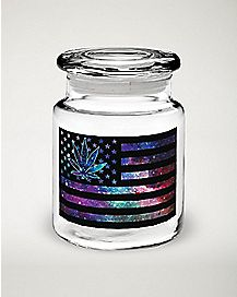 Galaxy Flag Storage Jar - 6 oz
