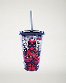 Quotes Deadpool Cup With Straw - 16 oz