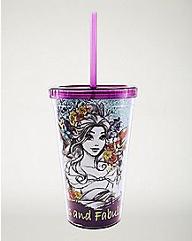 Fearless and Fabulous Disney Princess Cup with Straw - 16 oz.