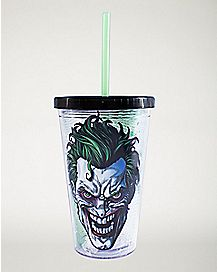 Joker Carnival Cup With Ice Cubes 16 oz - DC Comics