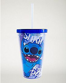 Stitch Cup With Straw and Ice Cubes 16 oz - Disney