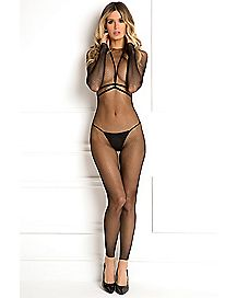 Harness Crotchless Bodystocking