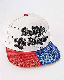 Sequin Daddys Lil Monster Harley Quinn Snapback Hat - Suicide Squad