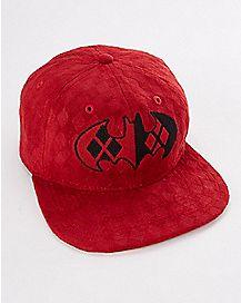 Harley Quinn Batman Logo Snapback Hat