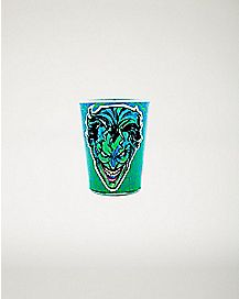 Green Face Joker Shot Glass - 1.5 oz.