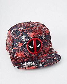 Splatter Paint Deadpool Snapback Hat - Marvel