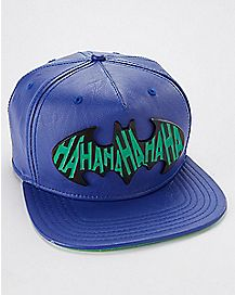 Batman Joker Faux Leather Snapback
