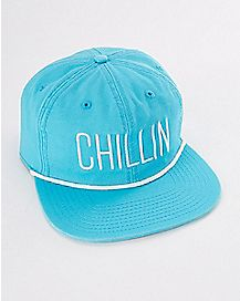 Chillin Blue Snapback Stash Hat