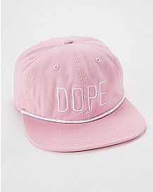 Dope Pink Slouchy Snapback Stash Hat