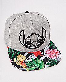 Floral Stitch Snapback Hat - Lilo & Stitch