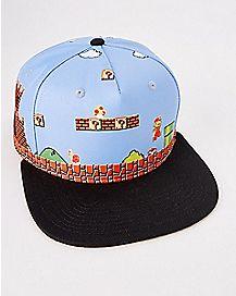 8-Bit Mario Snapback Hat - Nintendo