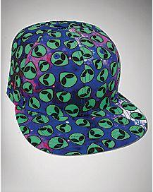 Cosmic Galaxy Alien Snapback Hat
