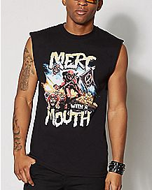 Deadpool Merc Muscle Tank Top - Marvel