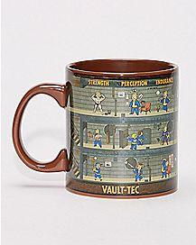 Fallout Vault Levels Coffee Mug - 20 oz.