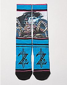 Sublimated Breath of the Wild Crew Socks - The Legend of Zelda