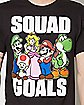 Squad Goals Super Mario T Shirt
