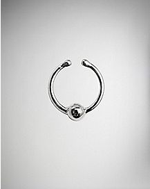 Silver Ball Fake Nose Ring