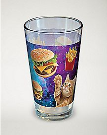 Cat Burger Galaxy Pint Glass - 16 oz