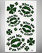 St. Patrick's Day Kiss Me Irish Face Tattoos