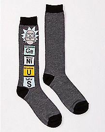 Rick and Morty Knee High Socks