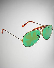 Saint Patrick's Day Clover Aviator Sunglasses