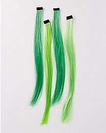 Saint Patrick's Day Green Hair Extensions