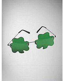 Green Shamrock Glasses