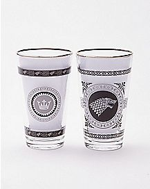 Game of Thrones Pint Glasses - 2 Pack - 16 oz