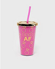 Engaged AF Cup with Straw - 16 oz