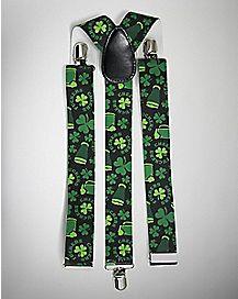 Green Clover Beer Suspenders