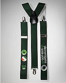 Shenanigans Buttons St. Patrick's Day Suspenders