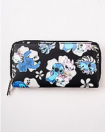 Floral Stitch Wallet - Lilo and Stitch