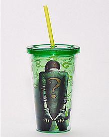 The Riddler Cup with Straw 16 oz. - DC Comics
