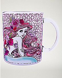 Ariel Dreams Gleam Glass Mug 17.5 oz - The Little Mermaid