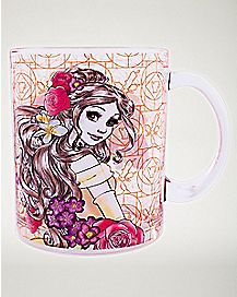 Belle Floral Glass Mug 17.5 oz - Beauty and the Beast