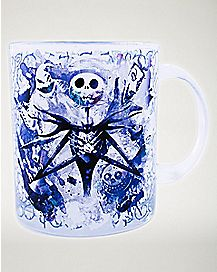 Jack Skellington Glass Mug 17.5 oz - The Nightmare Before Christmas