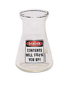 Contents Will Fuck You Up Beaker Shot Glass - 2.75 oz