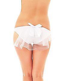 Panties with Tulle Bow
