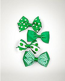 St. Patrick's Day Hair Bow 4 Pack