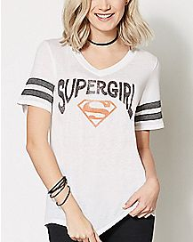 Supergirl Athletics T Shirt - DC Comics