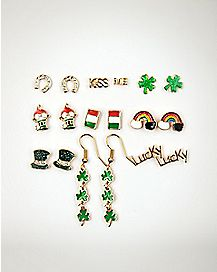 St. Patrick's Day Earrings 18 Pack