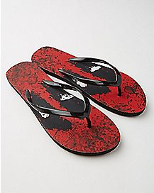 Deadpool Splat Flip Flops