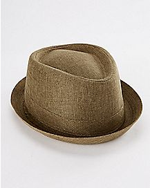 Olive Pork Pie Hat