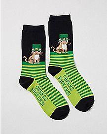Cheers Fuckers Saint Patrick's Day Crew Socks