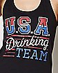 USA Drinking Team Tank Top