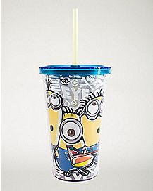 Minions Glow In The Dark Cup With Straw 16 oz - Despicable Me