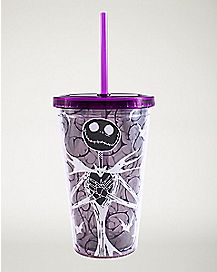 Jack Glow In The Dark Cup With Straw 16 oz - Nightmare Before Christmas