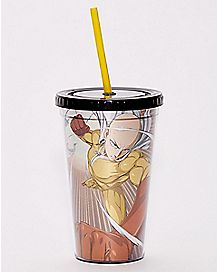 One Punch Man Cup With Straw - 16 oz.