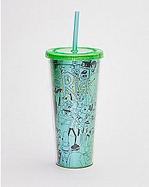 Rick and Morty Cup With Straw - 16 oz